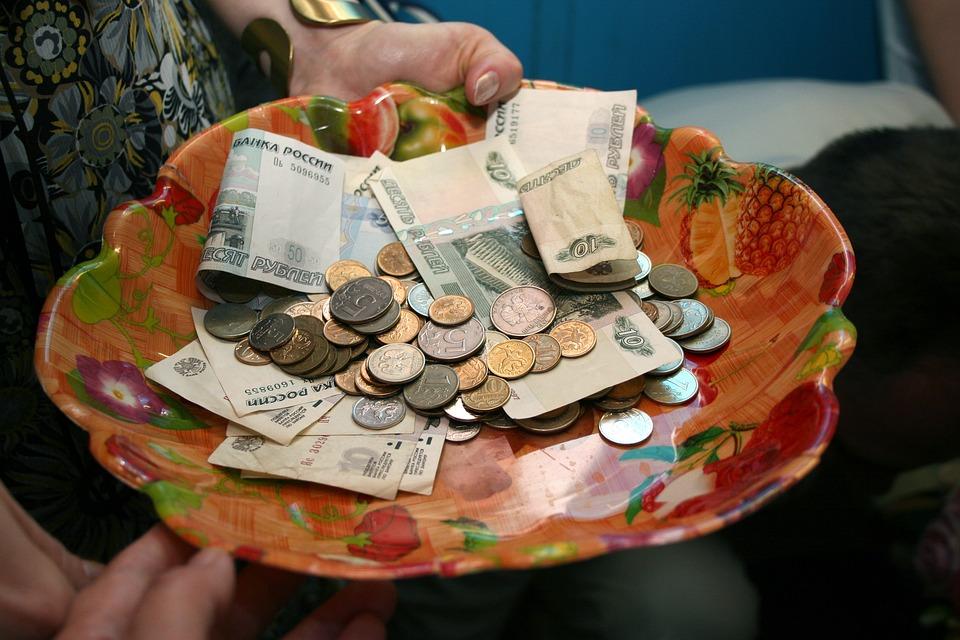 miska s penězi